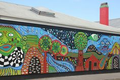 I like all the pattern and texture.  Karetu School Mural Project 2011 - Kawakawa by chestnutgrey, via Flickr