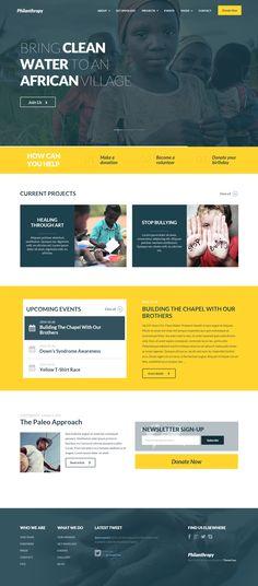 Philanthropy - Nonprofit WordPress Theme #webdesign