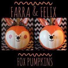 adorable Farra & Felix Fox Pumpkins #TYP entry in #plaidcrafts 4th Annual Trick Your Pumpkin Halloween craft contest! www.TrickYourPumpkin.com