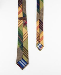 Madras Plaid Necktie