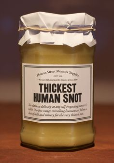 Thickest Human Snot / Hoxton Street Monster Supplies :: imaginative shopfront to The Ministry of Stories