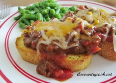 The Country Cook: Cheesy BBQ Sloppy Joes