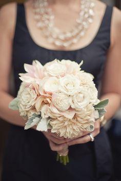Navy  Blush: #blush #wedding #bouquet