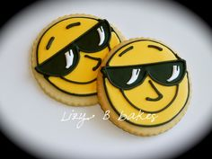 Cool Sun with Sunglasses Iced Cookies