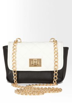 quilted chain mini crossbody