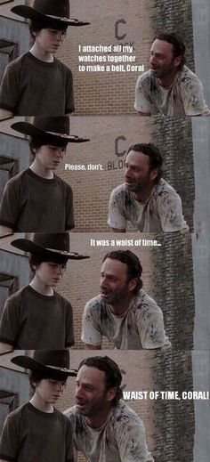 The Walking Dead: Rick Grimes dad jokes---- shoot this is def one of the funnier ones ive seen