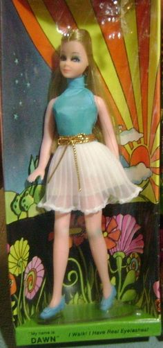 TOPPER: 1970 Dawn Doll #Vintage #Toys  Still have it and some of her friends.  I loved these when they came out.  I had several of Dawn and her friends, clothes and the case.  I enjoyed these dolls. I think this is the very first one I ever had.