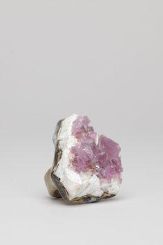 pink fluorite ring ++ adina mills