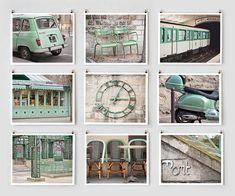 pen, mints, wall art, green walls, paris decor, colors, paris photography, art prints, color photography