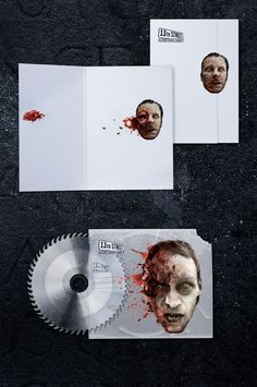 """13th Street """"Stationery of Horror"""" (Design) by Jacques Pense, via Behance"""