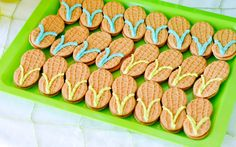 easy flip flop cookies for beach theme party