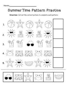 FREE! Summer pattern practice!