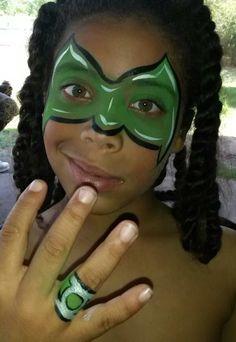 Green lantern mask face paint - photo#24