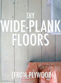 DIY wide-plank floors (from plywood)