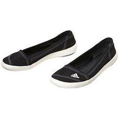 Sleek Slip-On Shoes by Adidas - A boat shoe with a ballet flat style and grippy outsole thats perfect for hopping around on slippery decks.