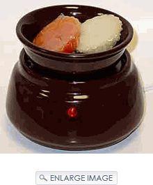 combo candle wermer/tart burner-chocolate imperfect $11.99