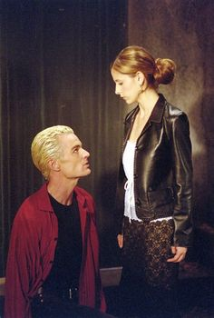 """James Marsters as Spike, Sarah Michelle Gellar as Buffy from """"Buffy the Vampire Slayer."""""""