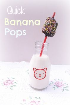 Cooking with Cooper – quick banana pops | BabyCentre Blog