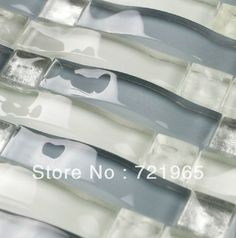 Decor mesh arched glass mosaic tile backsplash CGMT087 glass mosaic kitchen bathroom wall tiles iridescent blue glass mosaics