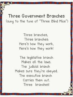 3 Branches of Gov Song
