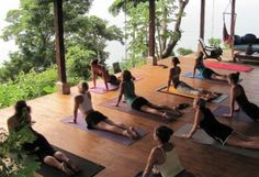 we build a yoga deck in the forest