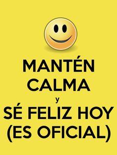 Mantén calma