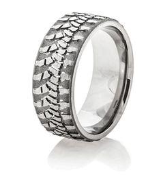 Wrangler Tread Ring, Mud Bogger Rings - Titanium-Buzz.com