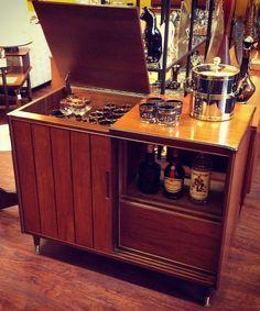 repurposed stereo cabinet
