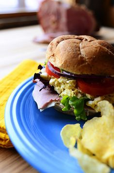 Leftover Easter Sandwich! Egg salad, ham, Dijon, and lots of fixins. @Reena Dasani Drummond | The Pioneer Woman