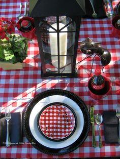 table settings, picnic parti, picnic tables, picnics, outdoor parties, ants, party tables, parti idea, tabl set