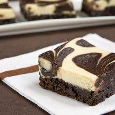 Cheesecake brownies. So easy.  brownie mix, cream cheese, egg and sugar.  I can make these!