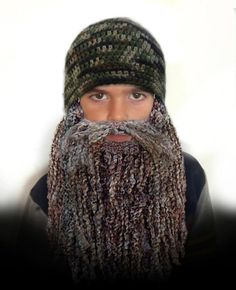 Duck Dynasty Hat and Beard CROCHET PATTERN - Easy - 7 sizes - Newborn to Adult - Instant Download on Etsy, $2.99
