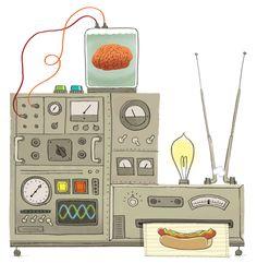 art inspir, illustr machin, book art, illustrations, john martz, art invent, martz comput, anim machin, heart illustr