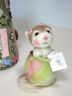 "Meggie 3"" Needle Felted Mouse By Barby Anderson (SOLD)"