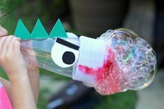 Outdoor Activities for Kids: Bubble Snake Creatures - Twodaloo