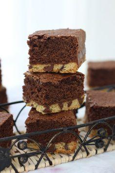 Chocolate Chip Shortbread Brownies
