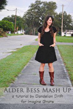 sew: alder bess dress tutorial    imagine gnats