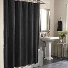 Glacier Fabric Shower Curtain, Black Silver Combination