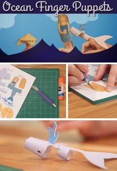 Summer Kids' Craft: Ocean Finger Puppets From HGTV | HGTV Design Blog – Design Happens