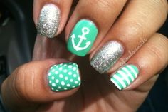 Anchors away! Add pastels, polka dots and stripes for a preppy look.