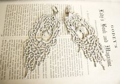 romantic lace earrings JULIANA silver   by tinaevarenee on Etsy  #jewelry #lace #fashion #earrings
