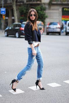 Boyfriend Jeans and Heels