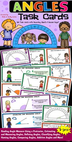 There are three (3) sets of angles task cards in this pack for a total of one hundred (100) task cards!$