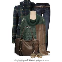 """Navy, Green and Brown"", created by jaycee0220 on Polyvore"