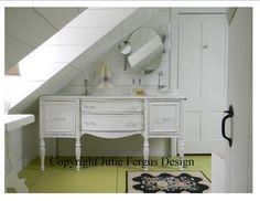 Buffet used as bathroom vanity