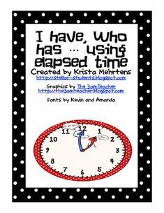 Elapsed Time Freebie!