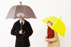Goggles Umbrella by 25togo via designboom: Good for spies and scuba divers. http://tinyurl.com/18r  $56 #Umbrella #Goggles_Umbrella #designboom #25togo