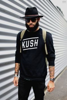 Hat beard sweater tumblr Style men