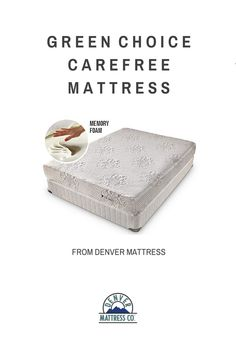 The Green Choice Carefree is on the cutting edge of foam science offering superior support for proper spinal alignment and body hugging comfort from our exclusive plant based memory foam. #denvermattress