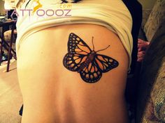 Monarch Butterfly Tattoo Black And White